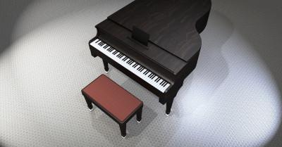 Piano in de bib